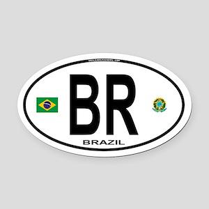 Brazil Intl Oval Oval Car Magnet