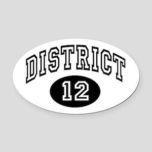 Hunger Games District 12 Oval Car Magnet