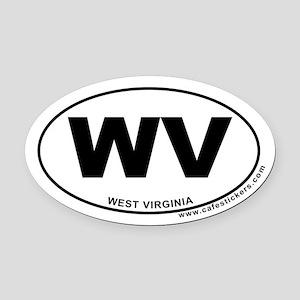 West Virginia Oval Car Magnet