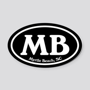Myrtle Beach MB Euro Oval Oval Car Magnet