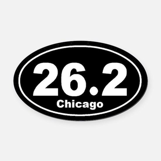 26.2 chicago black Oval Car Magnet