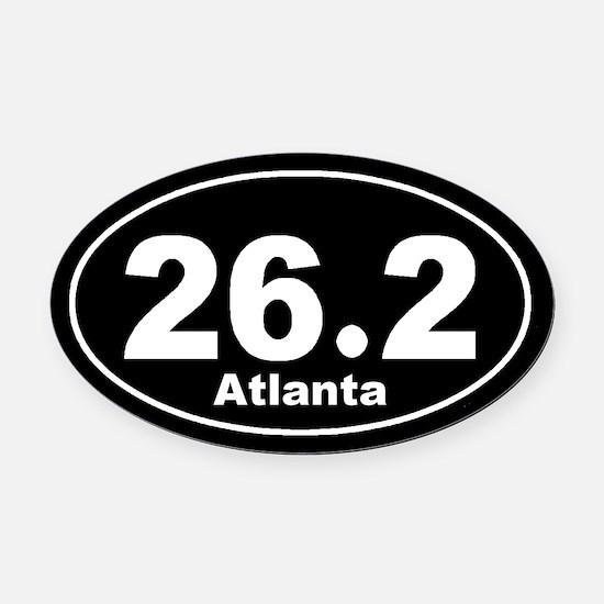 26.2 Atlanta Marathon black Oval Car Magnet