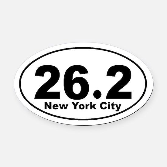 26.2 New York City Marathon s Oval Car Magnet