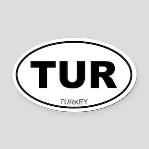 Turkey Oval Car Magnet