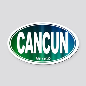 Cancun Mexico - Oval Car Magnet