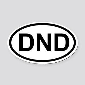 DND Oval Car Magnet
