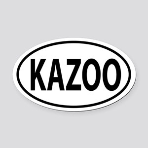 Kazoo, Kalamazoo, MI Oval decal Oval Car Magnet