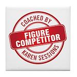 Figure Competitor Tile Coaster