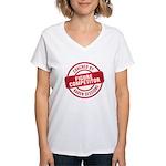 Figure Competitor Women's V-Neck T-Shirt