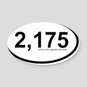 2175 - Appalachian Trail Miles Oval Car Magnet