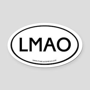 LMAO Oval Car Magnet