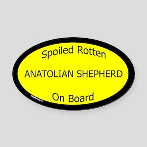 Spoiled Anatolian Shepherd On Board Oval Car Magne