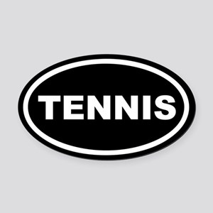 Tennis Euro Oval Car Magnet