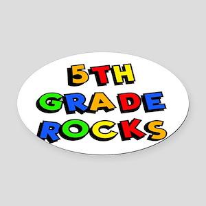 5th Grade Rocks Oval Car Magnet