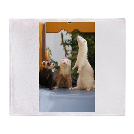 Adorable Trio Throw Blanket