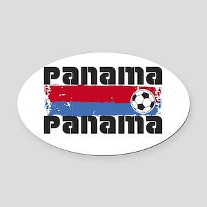 Panama Soccer Oval Car Magnet