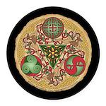 Celtic Reindeer Shield Round Car Magnet