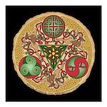 Celtic Reindeer Shield Square Car Magnet 3
