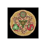 Celtic Reindeer Shield Square Sticker 3
