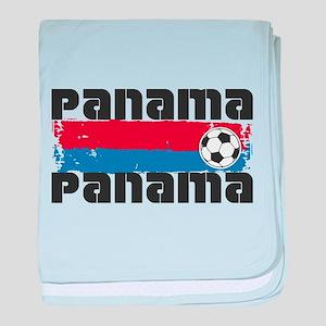 Panama Soccer baby blanket
