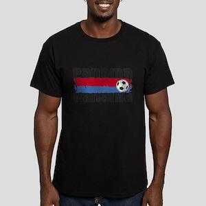 Panama Soccer Men's Fitted T-Shirt (dark)