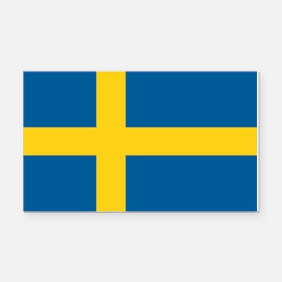 Swedish Flag Rectangle Car Magnet