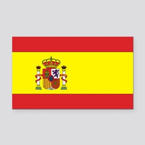 Spanish Flag Rectangle Car Magnet