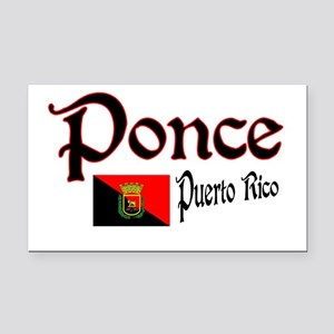Ponce Rectangle Car Magnet