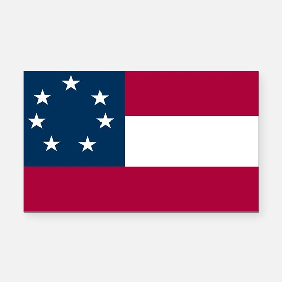 Confederate 1st National Rectangle Car Magnet