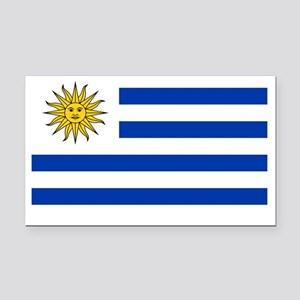 Uruguay Flag Rectangle Car Magnet