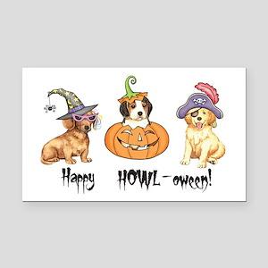 Halloween Puppies Rectangle Car Magnet