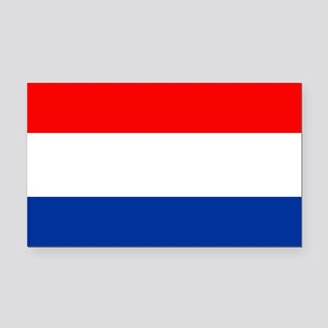 Dutch (Netherlands) Flag Rectangle Car Magnet