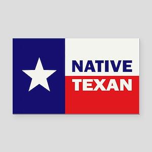 Native Texan Rectangle Car Magnet