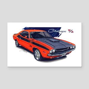 Dodge Challenger Orange Car Rectangle Car Magnet