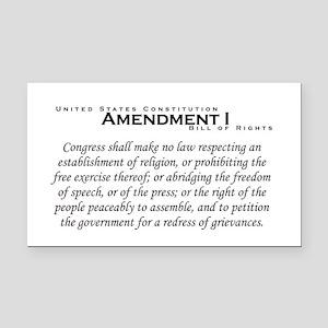 Amendment I Rectangle Car Magnet