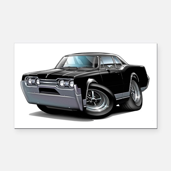 1967 Olds Black Car Rectangle Car Magnet