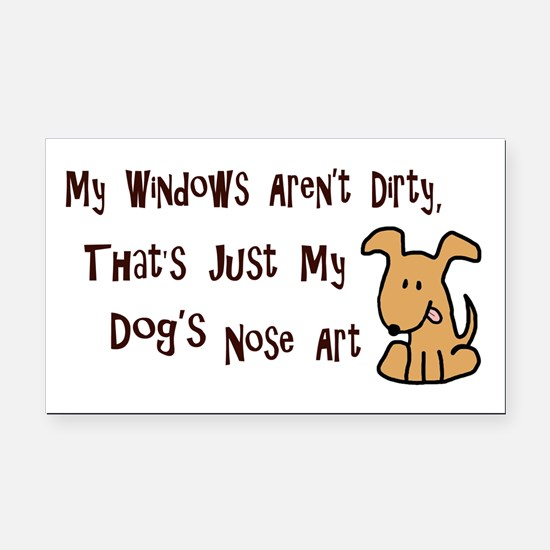 Nose Art Rectangle Car Magnet