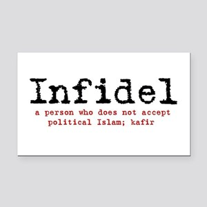Infidel Rectangle Car Magnet