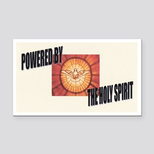 Powered By the Holy Spirit Rectangle Car Magnet