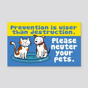 Prevention is Wiser Rectangle Car Magnet