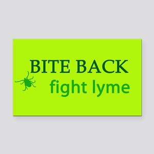 Bite Back: Fight Lyme Rectangle Car Magnet