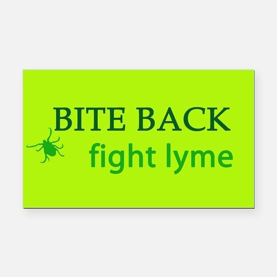Bite Back: Fight Lyme Rectangle Car Magnet