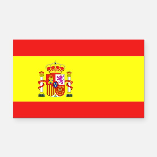 Spanish Flag Rectangle Car Magnet
