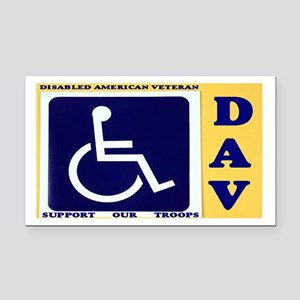 Disabled Vets Rectangle Car Magnet