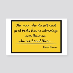 Twain Good Books--yellow Rectangle Car Magnet