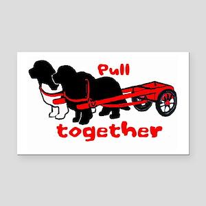 Newfs: pull together Rectangle Car Magnet