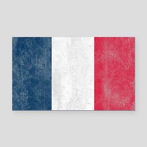 Vintage French Flag Rectangle Car Magnet