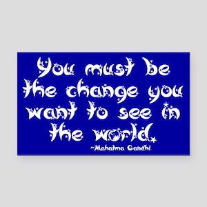 Gandhi Quote Rectangle Car Magnet