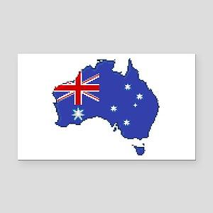 """Pixel Australia"" Rectangle Car Magnet"