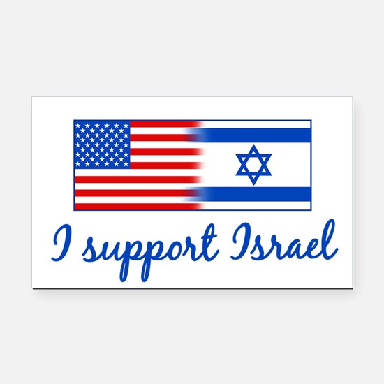Support Israel Rectangle Car Magnet